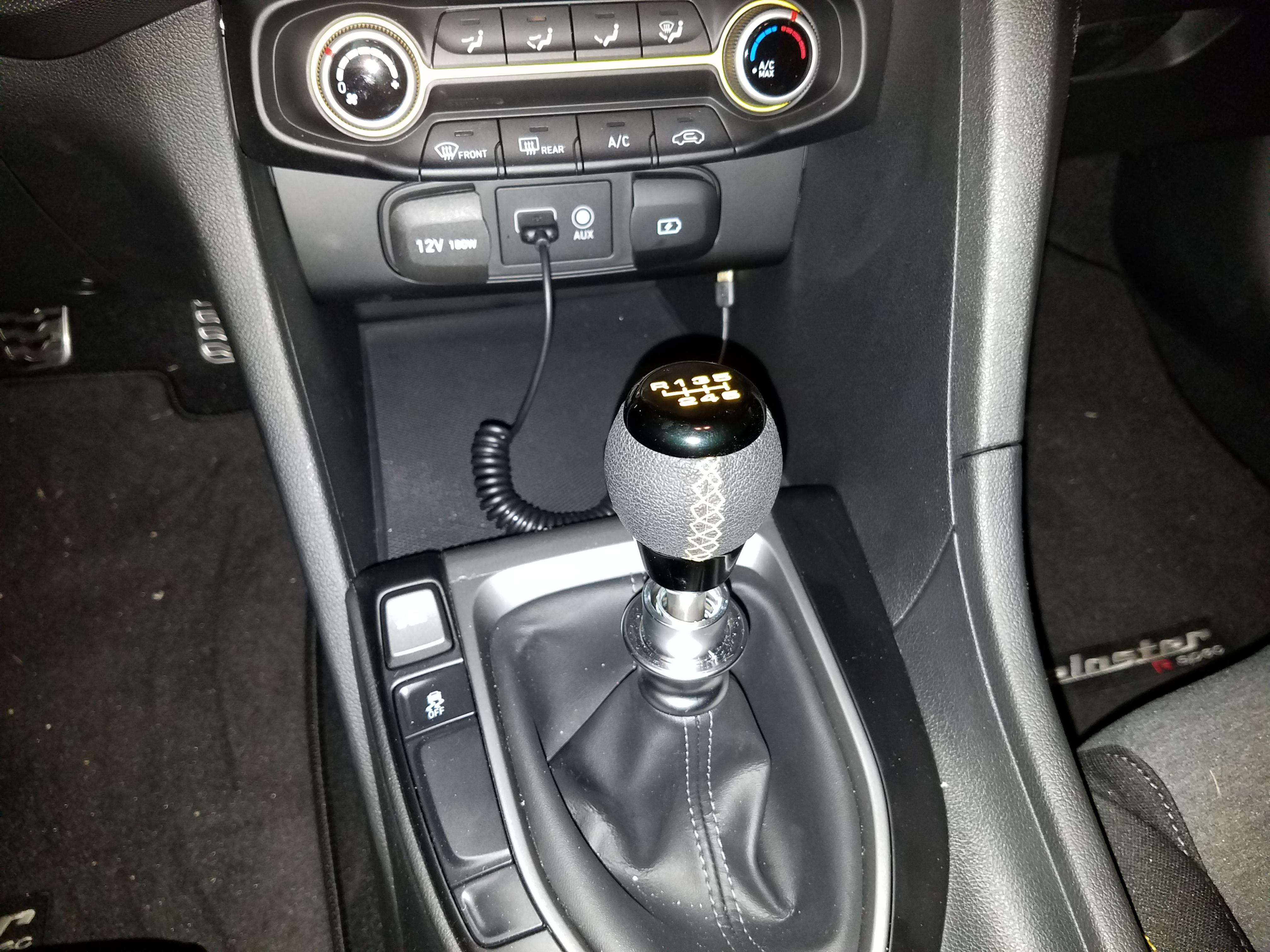 Replaced Shift Knob on my 2019 R-spec | Veloster Forum