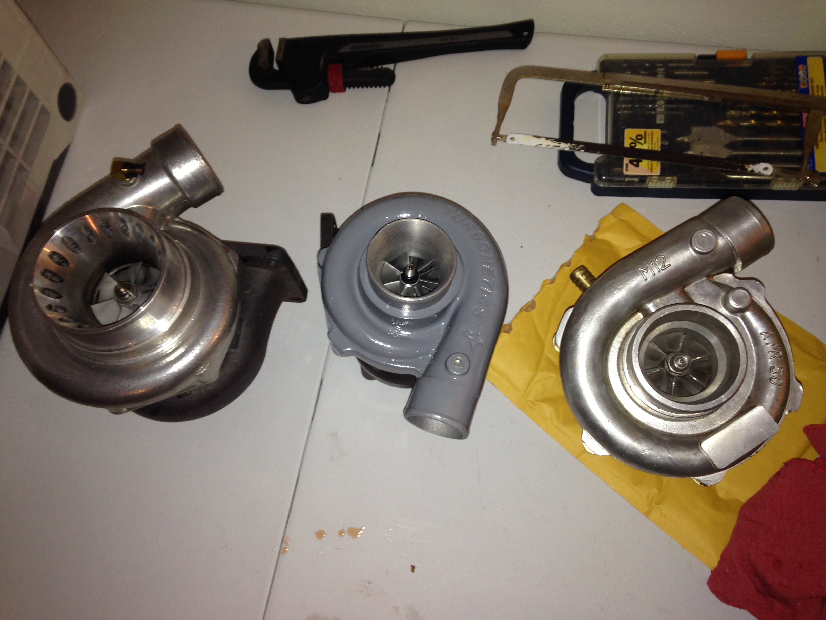 Turbonetics turbo, Stock intercooler and misc related parts