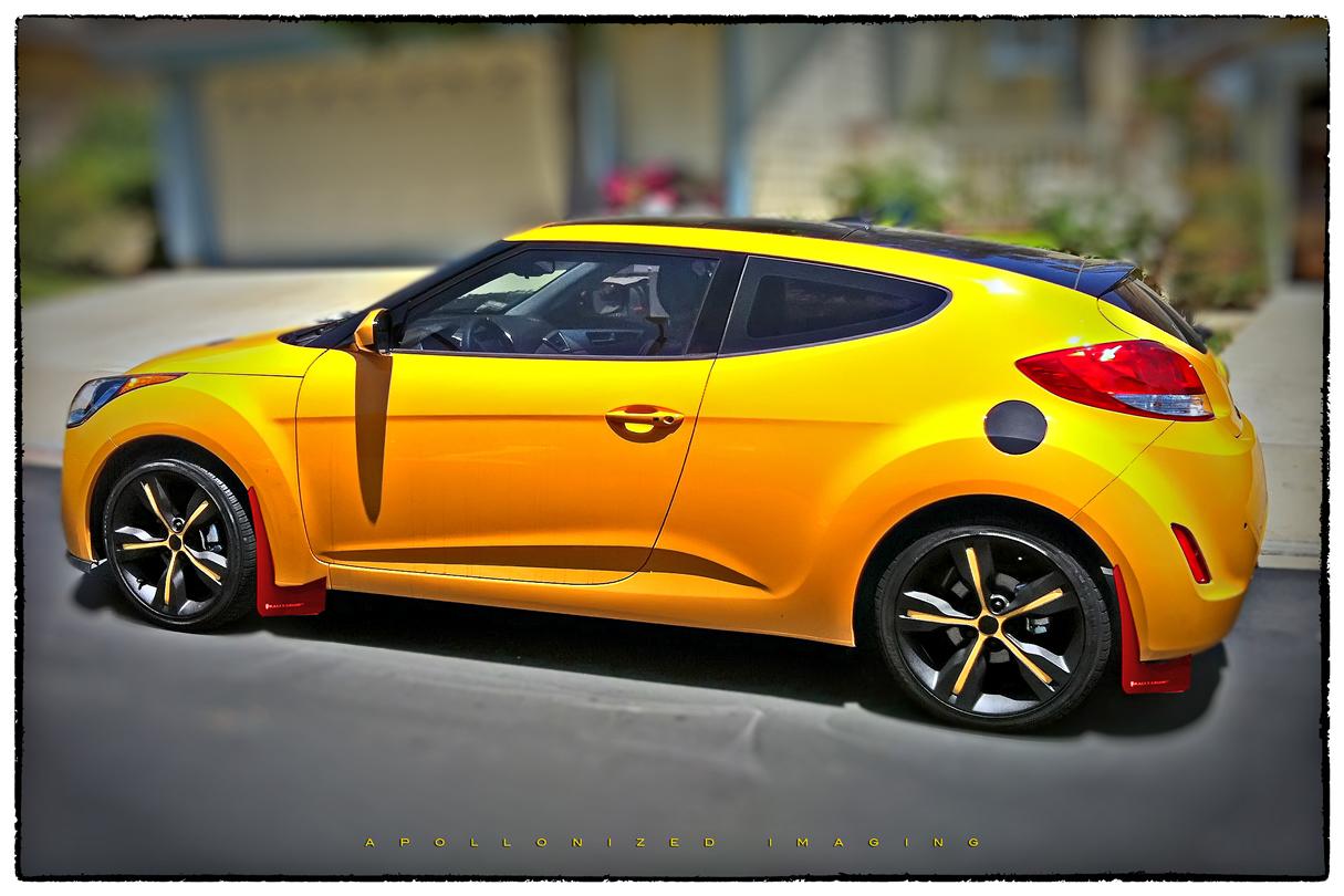 hyundai veloster 2014 yellow. survey red or black rally armor mudflaps on my yellow v veloster hyundai 2014 w