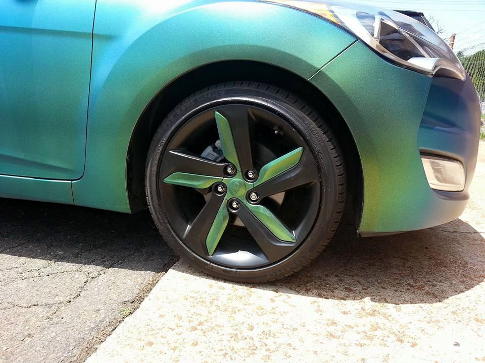 Plasti Dipped Stock Veloster Turbo Wheels   Veloster Forum