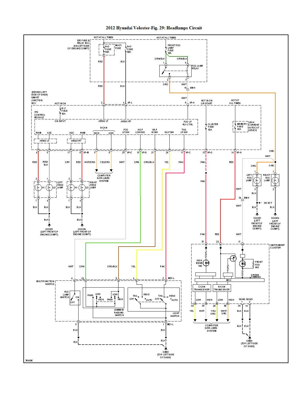 Lighting Wiring Diagram? | Veloster Forum on
